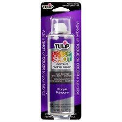 Tulip Color Shot Instant Fabric Color Spray 3Oz-Purple