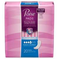 Kimberly-clark Poise Regular Length Moderate Absorbency Pads - 20 count, Multi-Colored