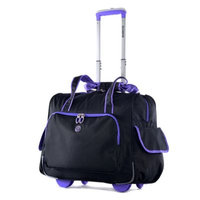 Olympia Luggage, Rave 15-inch Laptop Wheeled Overnighter Bag (Purple)
