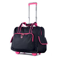 Olympia Luggage, Rave 15-inch Laptop Wheeled Overnighter Bag (Pink)