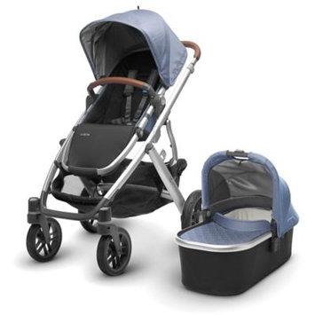 Infant Uppababy 2017 Vista Henry Aluminum Frame Convertible Stroller With Bassinet & Toddler Seat, Size One Size - Blue