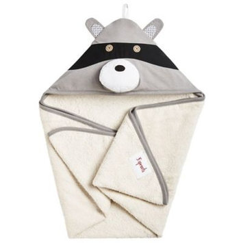Babies R Us 3 Sprouts Hooded Towel - Raccoon