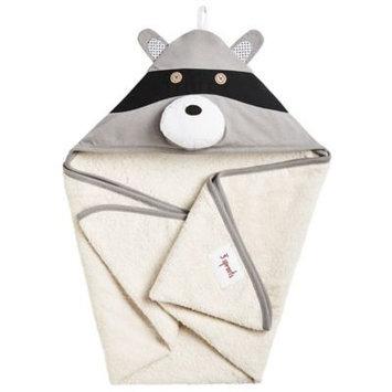 Babies R Us 3 Sprouts Hooded Towel - Raccoon