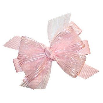 WD2U Girls Perfectly Pink Organza GrosGrain Easter Hair Bow French Clip 9018FC by Webb Direct 2U