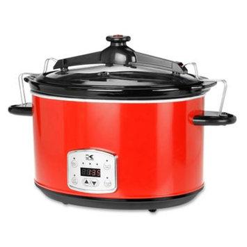 Kalorik Red 8qt. Digital Slow Cooker with Locking Lid