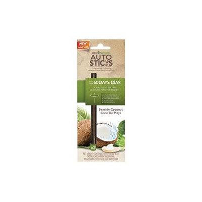 Enviroscent 1071036 Autosticks Fragrance Diffuser Sticks Seaside Coconut - Pack of 2