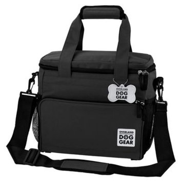 Overland Travelware Overland Dog Gear Week Away Bag for Small Dogs, Black