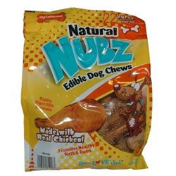 Nylabone Natural Nubz Edible Dog Chews 22ct. (2.6lb bag)