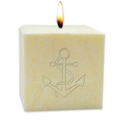 Carved Solutions 4-Inch Anchor Citrus Escape Aromatherapy Pillar Candle