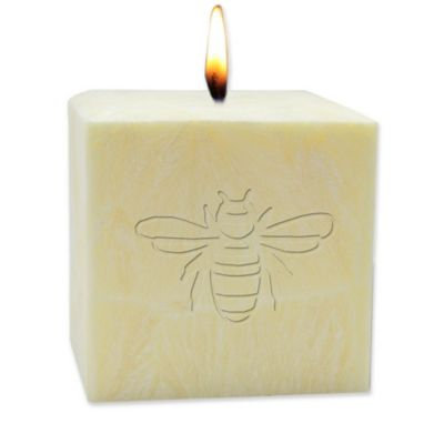 Carved Solutions 4-Inch Bee Pure Aromatherapy Pillar Candle