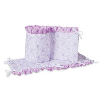 Trend Lab Grace Crib Bumpers, Purple, Gray and White