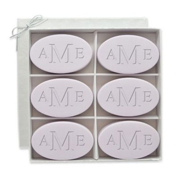 Carved Solutions 6-Pack Signature Spa Inspire Monogrammed Oval Lavender Bar Soap