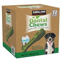 Kirkland Signature Grain Free Dental Chews Dog Treats, 72 Ct