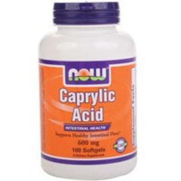 Now Foods Caprylic Acid 600mg, 100 Softgels - (Pack of 2)