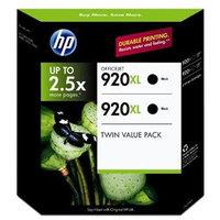 HP 920XL Black Officejet Ink Cartridges - 2 Pk