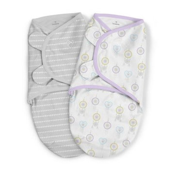 SwaddleMe® 2-Pack Small Organic Cotton Day Dreamer Original Swaddles in White