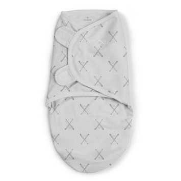 SwaddleMe® Small Batter Up Original Swaddle in Grey