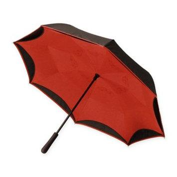 Emson Women's Betterbrella Better Umbrella - Folds Up To Keep Floors Dry - Red