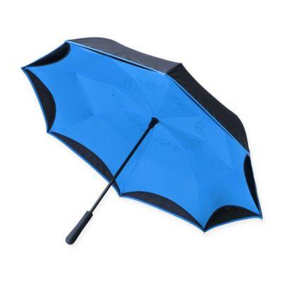 Women's Betterbrella Better Umbrella - Folds Up To Keep Floors Dry - Blue