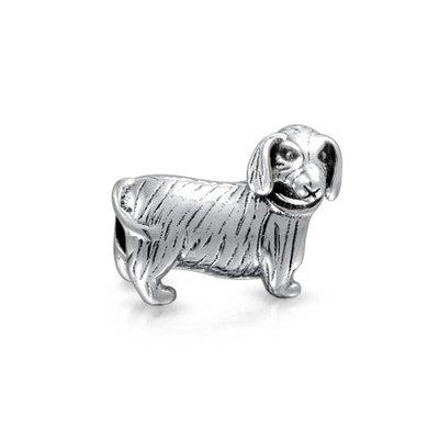 Bling Jewelry 925 Sterling Silver Dachshund Bead Dog Animal Charm Fits Pandora