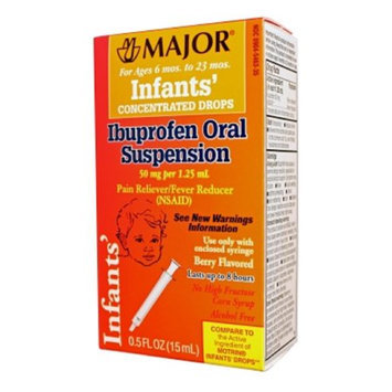 MAJOR INFANTS' IBUPROFEN ORAL SUSP IBUPROFEN-40 MG/ML Pink 15 ML UPC