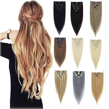 100% Natural True Thick Weft Full Head Set Clip in 100% Remy Human Hair Extensions Top Grade 7A For Woman Beauty 8Piece 84Clips