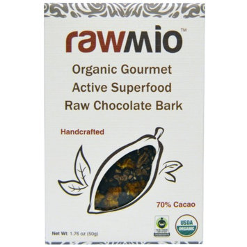Rawmio, Organic Gourmet Active Superfood Raw Chocolate Bark, 1.76 oz (pack of 6)