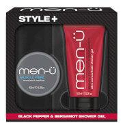 men-u Style+ Black Pepper & Bergamot Shower Gel 100ml - Muscle Fibre