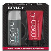men-u Style+ Black Pepper & Bergamot Shower Gel 100ml - Liquifflex