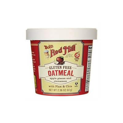 Bob's Red Mill Gluten Free Oatmeal Cup Apple Pieces & Cinnamon with Flax & Chia 2.36 oz
