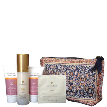 Sundari Beauty Bag with Anti-Aging Firming Skincare