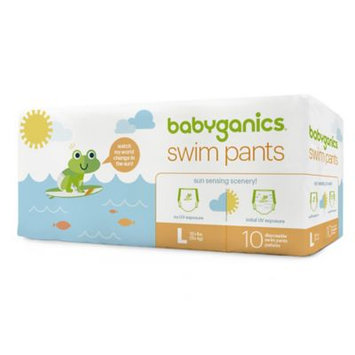 Babyganics Disposable Swim Diapers, Ivory