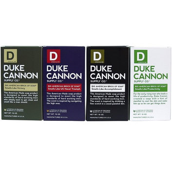 Duke Cannon Men's Bar Soap Variety Pack - Big American Brick Of Soap 10oz - Triple Milled For Highest Quality - 1 Of Each