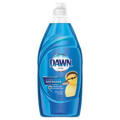 Liquid Dish Detergent, Original Scent, 19.4 oz Bottle, 10/Carton