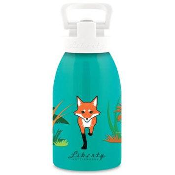Liberty Bottleworks Safari 12 oz. Aluminum Fox Water Bottle in Turquoise