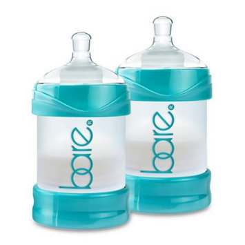 Bittylab Bare Air-free 4 Ounce 2 Pack Baby Bottle with Easy-latch Nipple