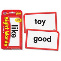 TREND ENTERPRISES INC. T-23027 POCKET FLASH CARDS SIGHT WORDS A