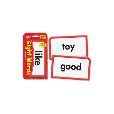 TREND ENTERPRISES INC. T-23027 POCKET FLASH CARDS SIGHT WORDS A