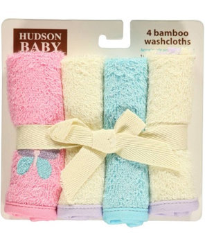 Hudson Baby Butterfly 4-Pack Washcloths