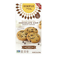 Simple Mills Cookies - Crunchy Chocolate Chip - Case of 6 - 5.5 oz