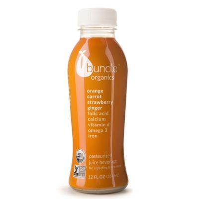 Bundle Organics Juices For Expecting & New Moms Orange Carrot Strawberry Ginger