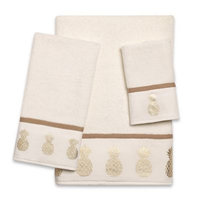 Golden Pineapple Fingertip Towel in Ivory