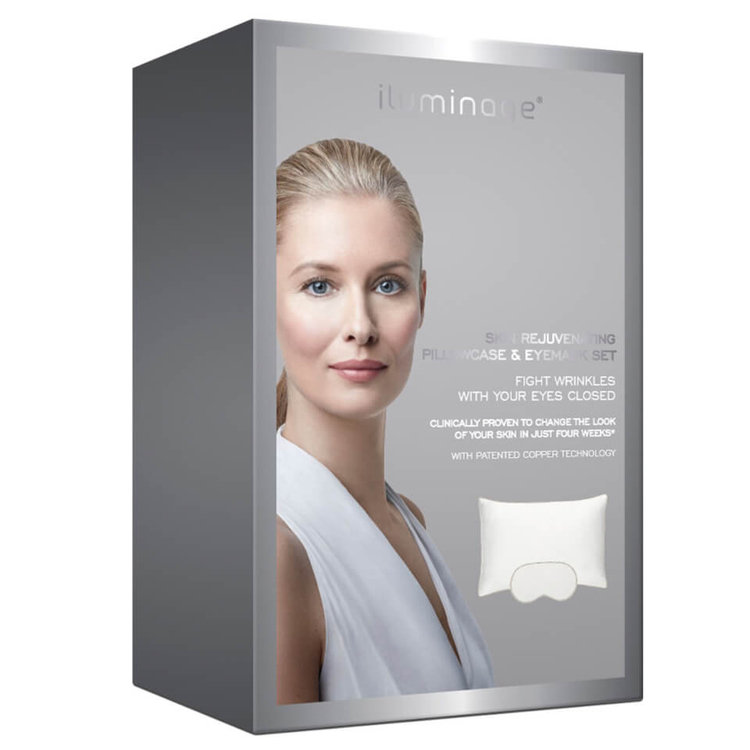 Iluminage Skin Rejuvenating Pillowcase and Eye Mask - White
