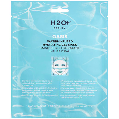 H2o+ Beauty H2O Plus Oasis Water-Infused Hydrating Gel Mask 1 Mask / 2 Pieces