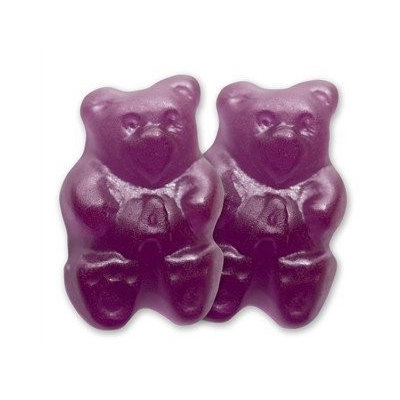 Albanese Confectionery Gummy Bears Grape Purple 2.5 Pounds