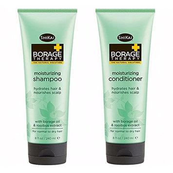 ShiKai Borage Shampoo & Conditioner Set - Hydrates Hair and Nourishes Scalp   8 oz