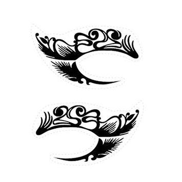 Temporary Eye Tattoo Eyeliner CRYSTAL Eyeshadow Face Sticker Transfer Designs