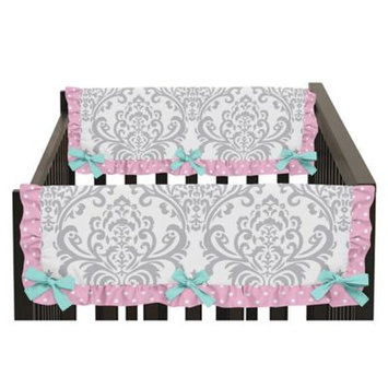 Skylar Set of 2 Side Crib Rail Guard Covers, Pink