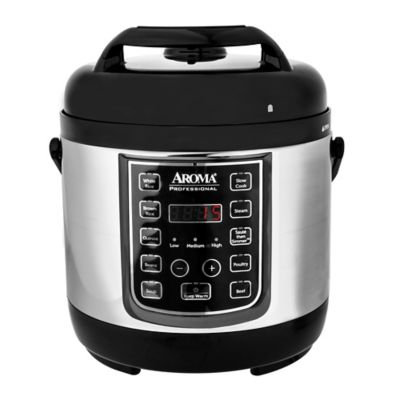 Aroma Turbo Rice 2.5-Liter Stainless Steel Electric Pressure Cooker, Silver