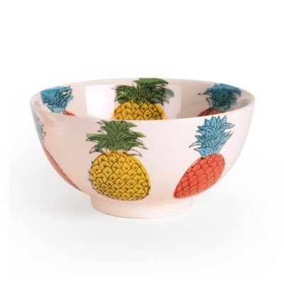 Signature Housewares Pineapple 5-Inch Utility Bowls (Set of 4)